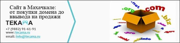 Сайт в Махачкале от покупки домена до его вывода на продажи